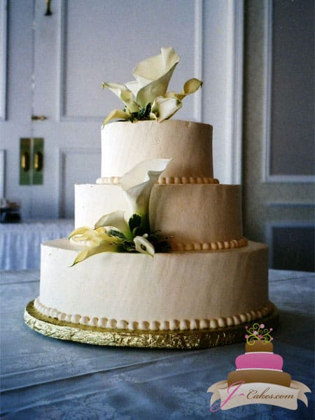 Beautiful and Delicious Wedding Cakes in CT  1015  Calla Lily Cluster Wedding Cake