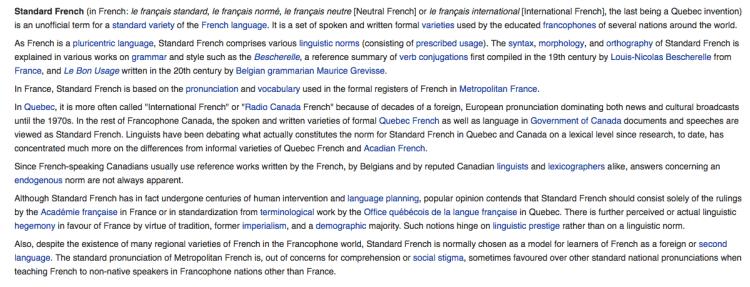 why parisian french