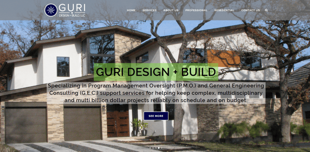 Custom website, small business websites, contractor website, architect