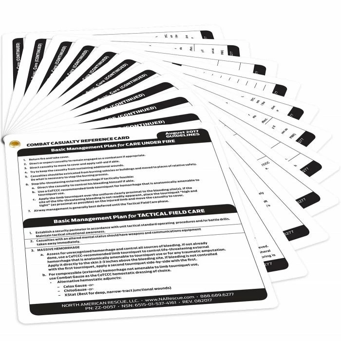Casualty Care Reference Card