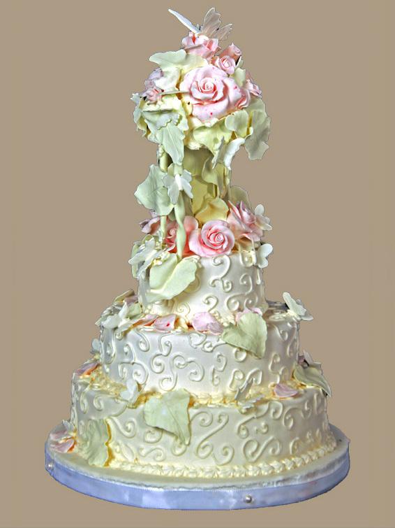 Hochzeits Torte Romantisch Auf Jade
