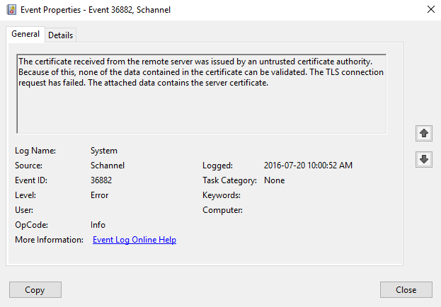 Retrieve Cert from EventLog | Jaap Brasser's Blog