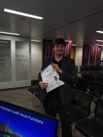 Winner of PSConfEU polo at London PowerShell User Group