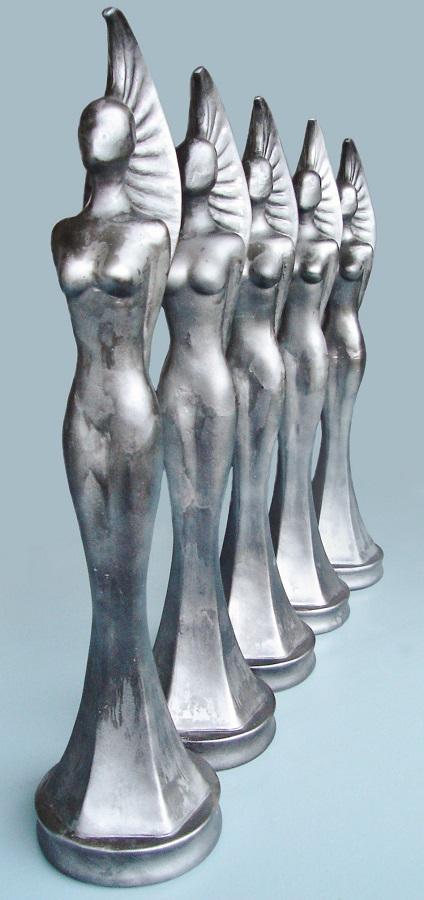Awards/vrouwelijke nominatie beelden te gebruiken als prijs voor een oscar film uitreiking, een trofee voor de winnaar