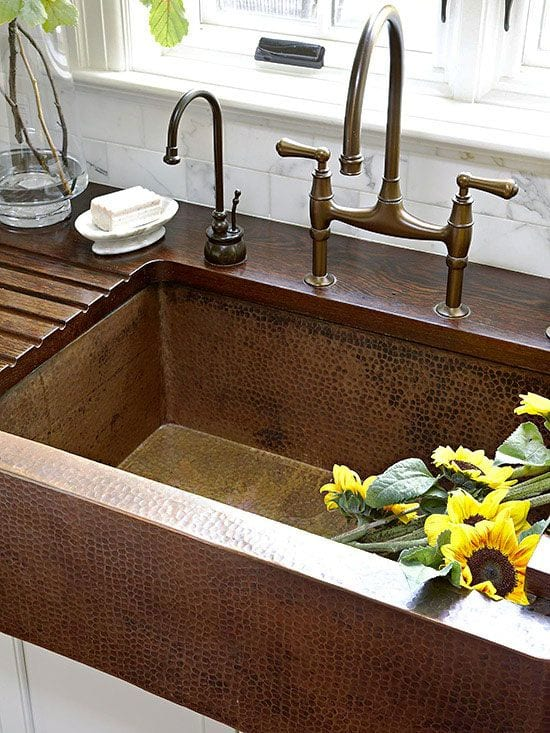 Wood Countertops With Sinks And Wet Areas | J. Aaron on Farmhouse Counter Tops  id=54410