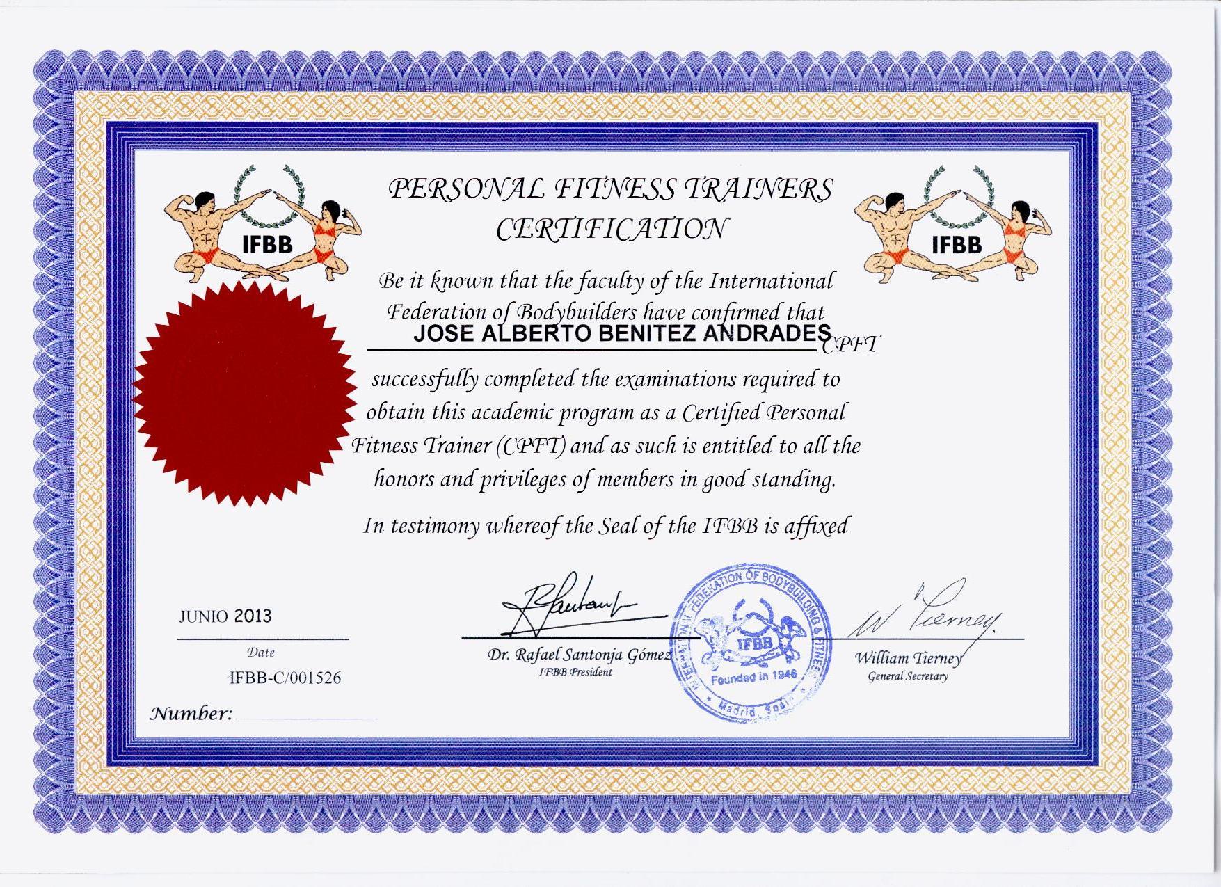 Ifbb Certification