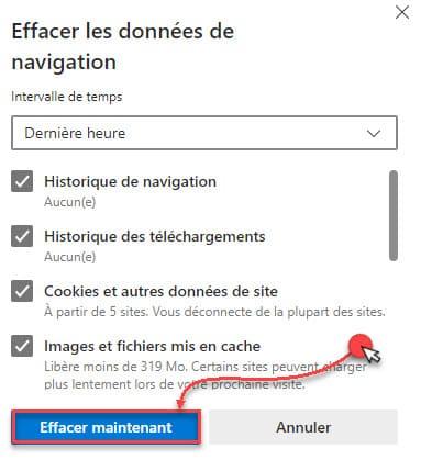 مسح ذاكرة التخزين المؤقت Microsoft Edge