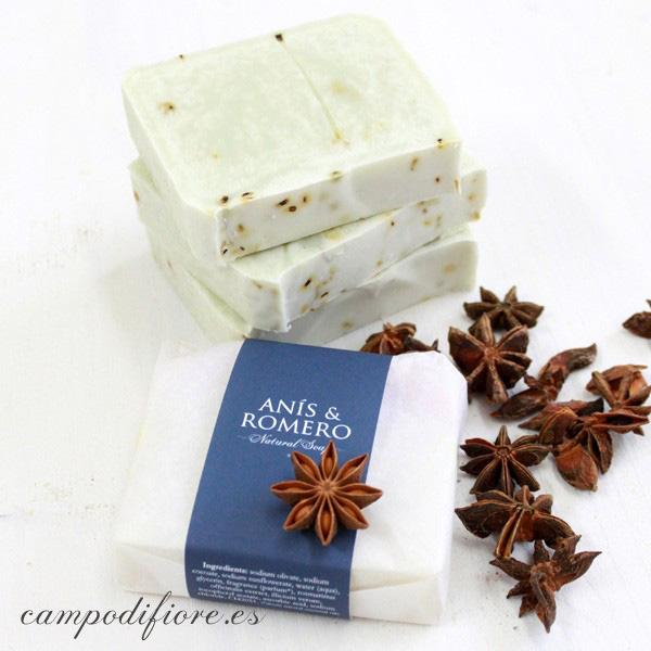 Jabón natural de anís y romero de Campo di fiore