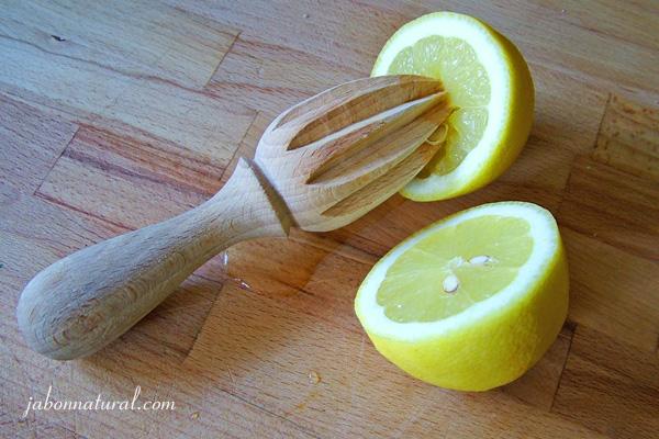 Receta de jabón de limón y tomillo