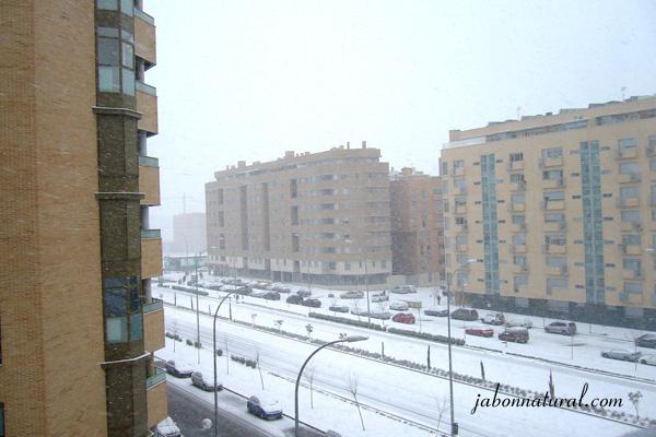 Nieve en Madrid - jabonnatural.com