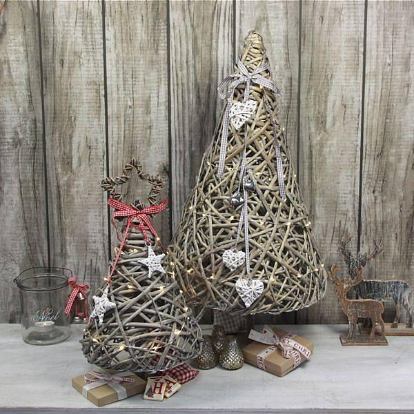 Árbol de navidad con palitos de madera