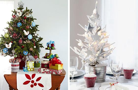 Arboles de Navidad para mesa