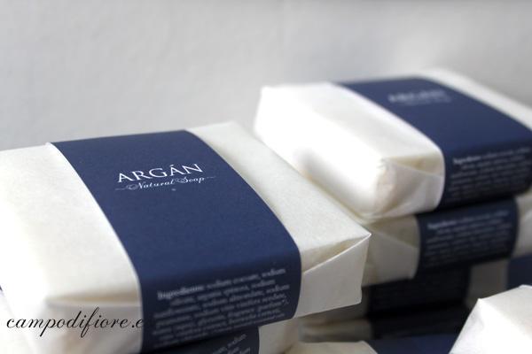 Jabón natural de argán de Campo di fiore - detalle