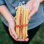 DIY – Velas de cera de abeja