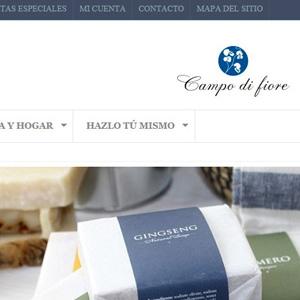 Imagen de la nueva web de Campo di fiore