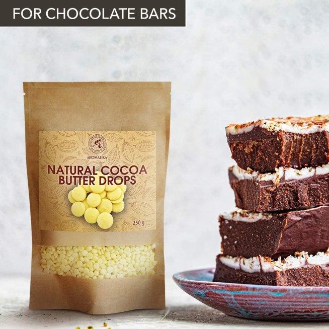 Gotas de Manteca de cacao sin refinar de grado alimenticio