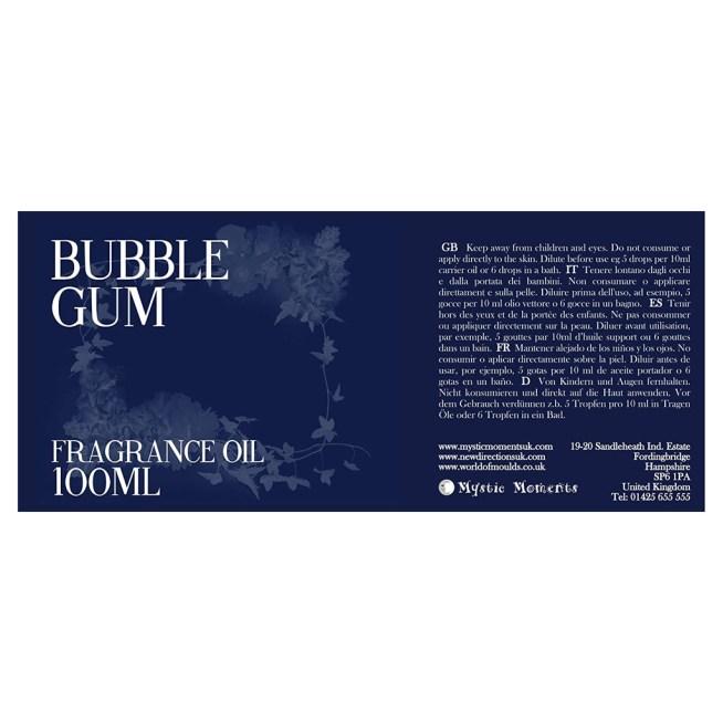 Etiqueta aceite perfumado de Goma de mascar