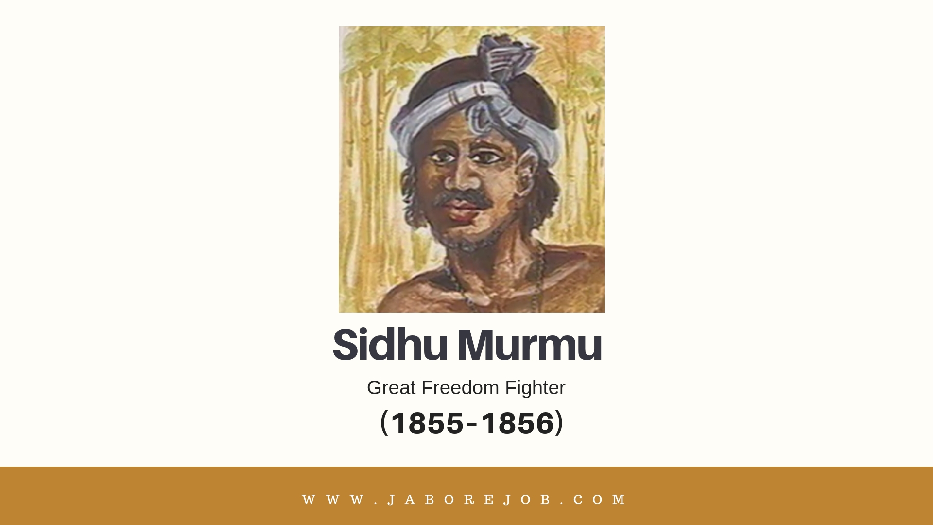 Sidhu Murmu, Sidhu Murmu freedom fighter, Sidhu Murmu freedom fighter biography, Sidhu Murmu tribal fighter