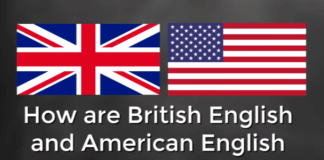 Difference between British English and US English