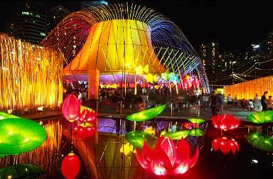 Lantern Festival in Hong Kong, 2003.