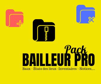 pack bailleur pro bail baux état des lieux