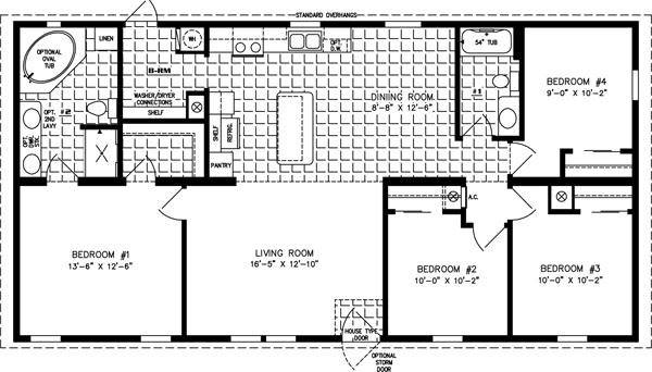 four bedroom mobile homes l 4 bedroom floor plans