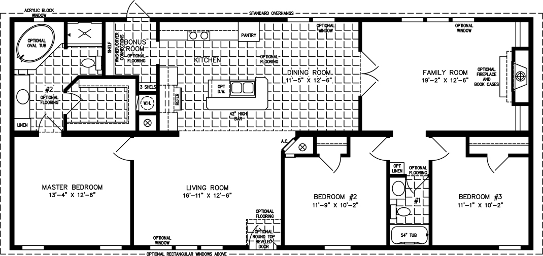 large manufactured homes | large home floor plans