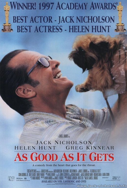 Jack Nicholson As Good As It Gets Above the Line Rory Dean