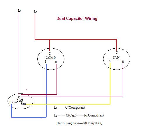 AC_DualCapWiring?resize\=532%2C443 dual capacitor wiring diagram capacitor motor wiring diagrams ac dual capacitor wiring diagram at crackthecode.co