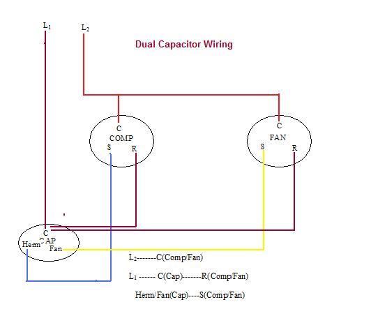 AC_DualCapWiring?resize\=532%2C443 dual capacitor wiring diagram capacitor motor wiring diagrams ac dual capacitor wiring diagram at bakdesigns.co