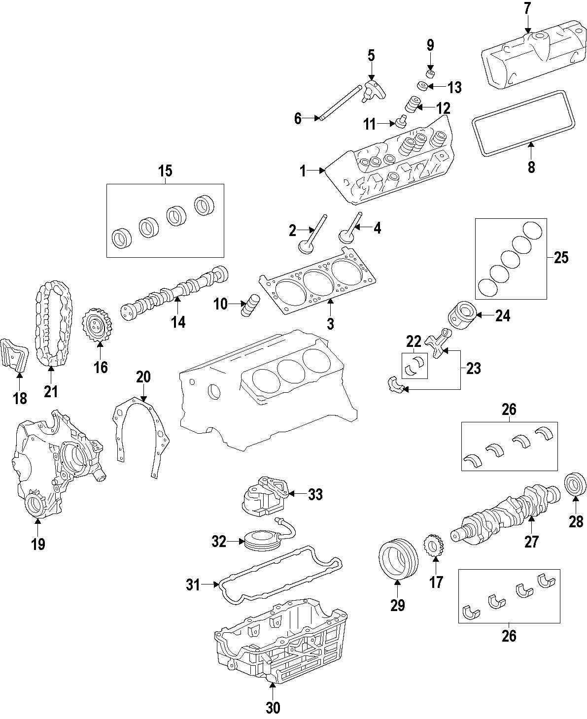 Chevrolet Malibu Engine Timing Cover Front