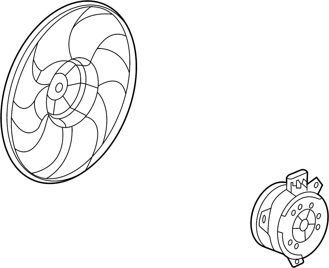Buick Regal Engine Cooling Fan Motor Left May Radiator