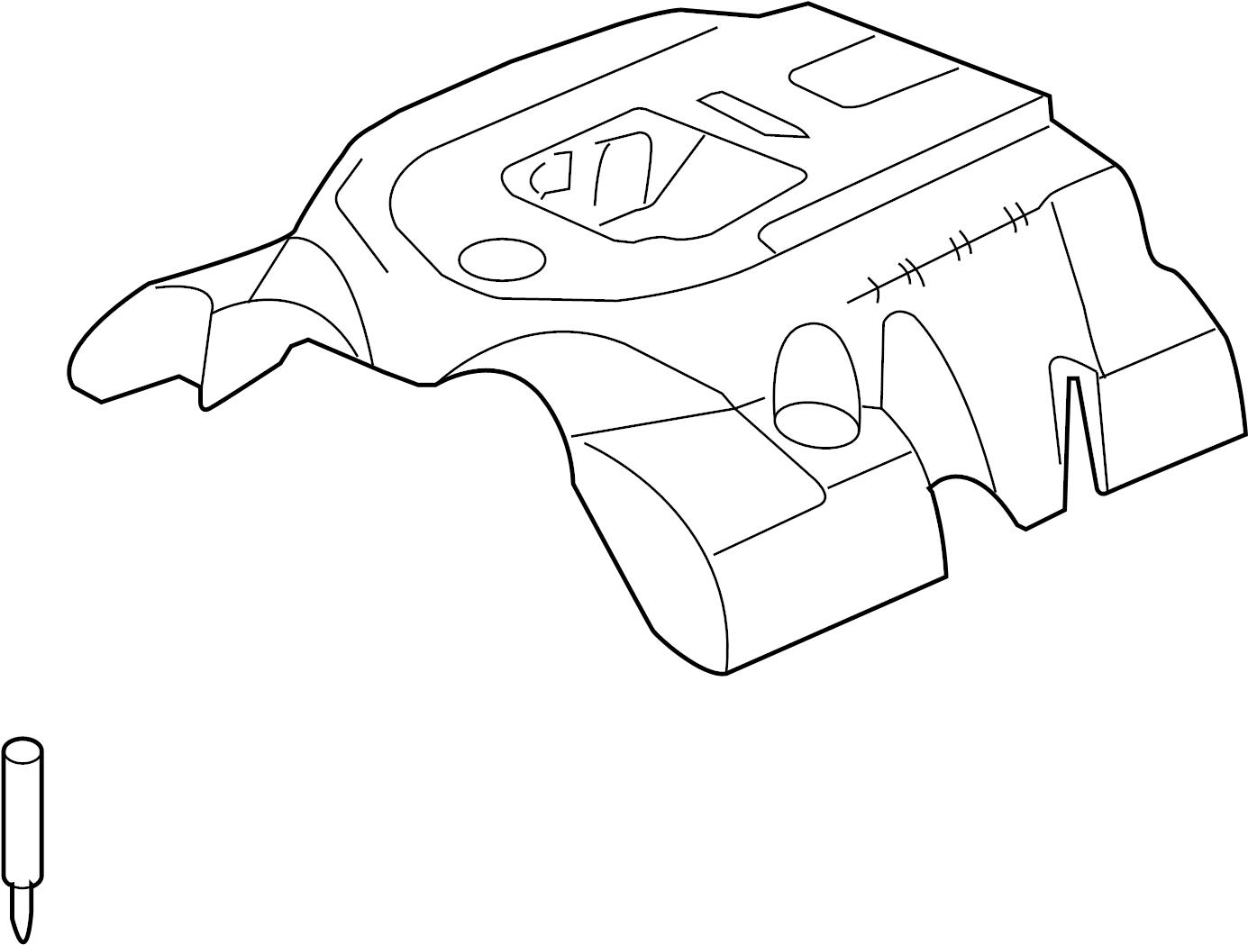 Cadillac Xlr Engine Cover Upper 4 4 Liter