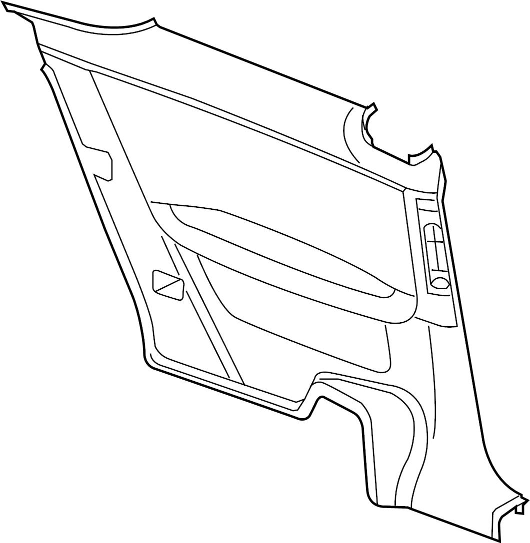 Pontiac G6 Interior Quarter Panel Trim Panel Lower