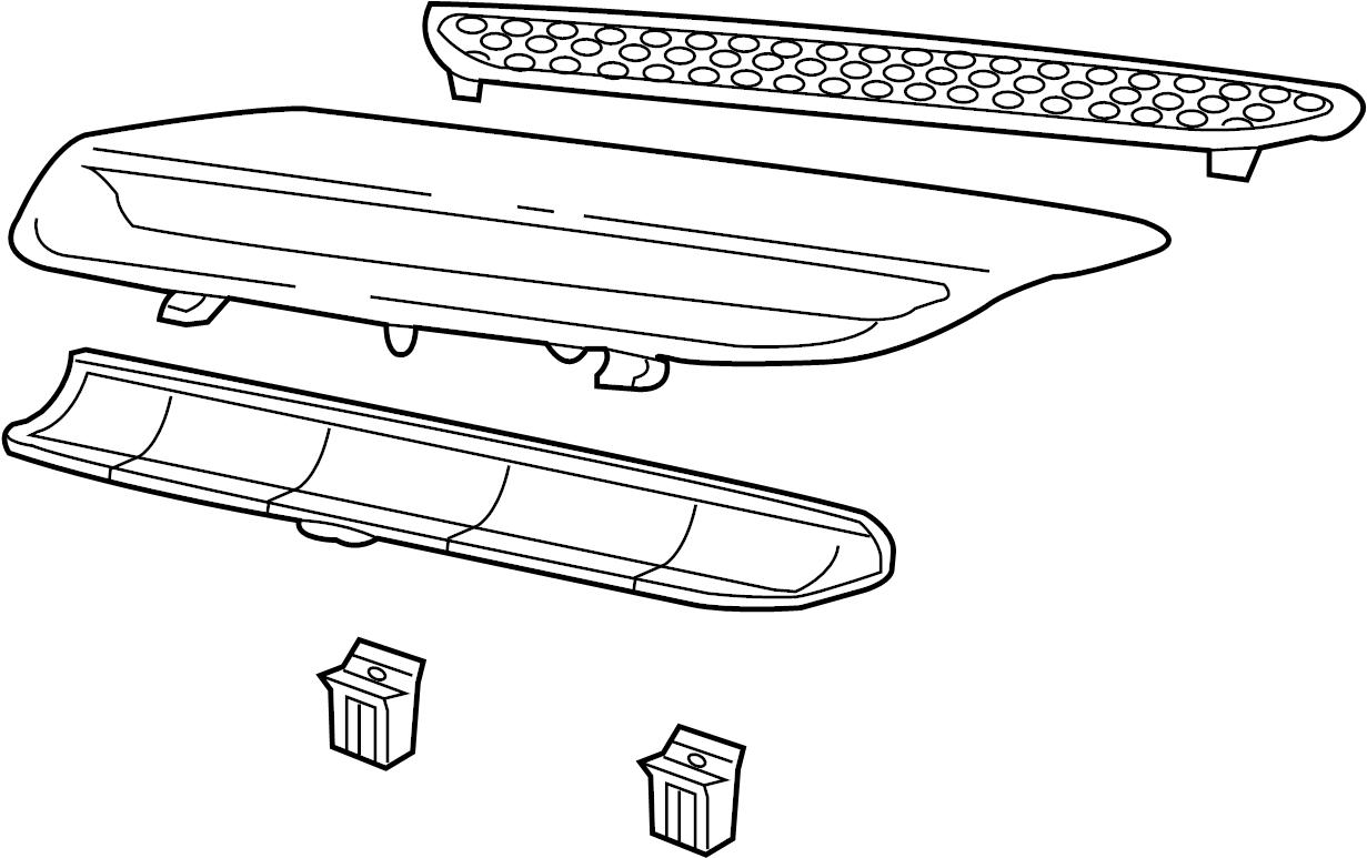 Pontiac G8 Hood Scoop Rear Hood Scoop Molding