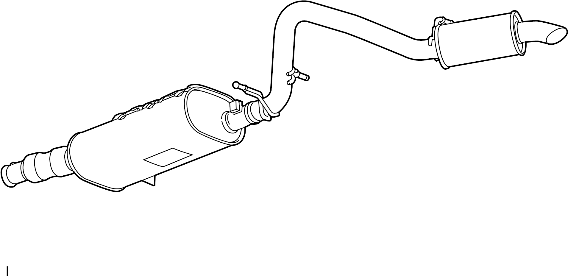 Gmc Yukon Exhaust Muffler 5 3 Liter 6 2 Liter Escalade