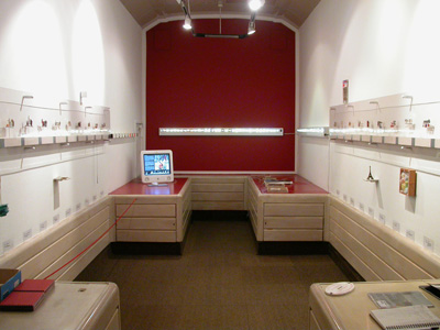 6.54 'Brooching the Subject' 2003. Installation; Travelling Gallery Interior