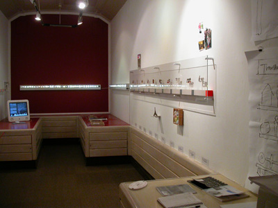 6.56 'Brooching the Subject' 2003. Installation; Travelling Gallery Interior