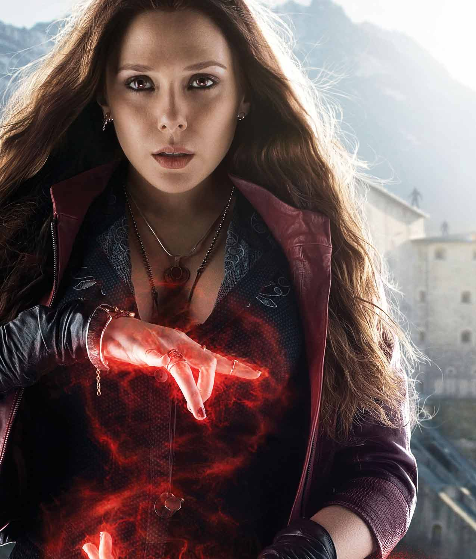 Avengers Age of Ultron Elizabeth Olsen Scarlet Witch Wanda Maximoff Women Jacket