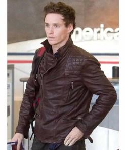 eddie-redmayne-brown-leather-jacket
