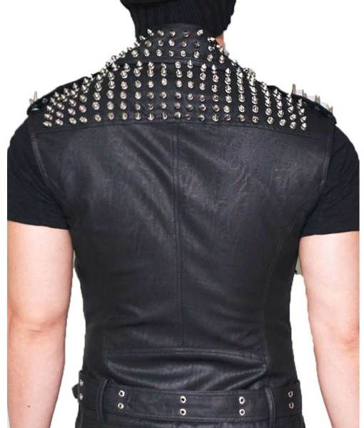 mens-black-studded-leather-vest