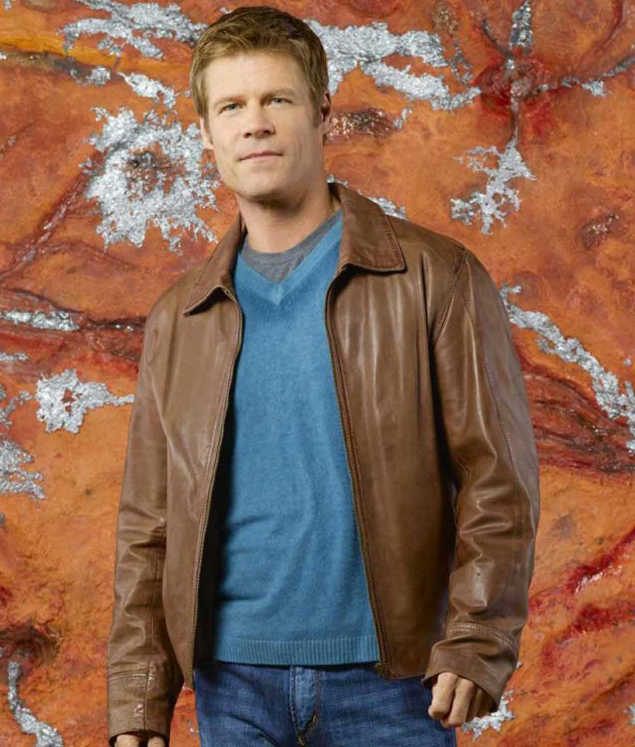 Joel Gretsch V Father Jack Landry Leather Jacket - Jackets