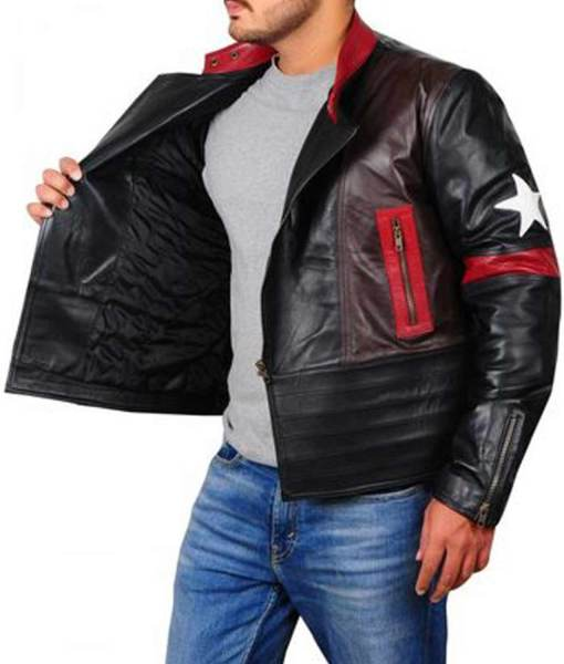 star-patch-leather-jacket