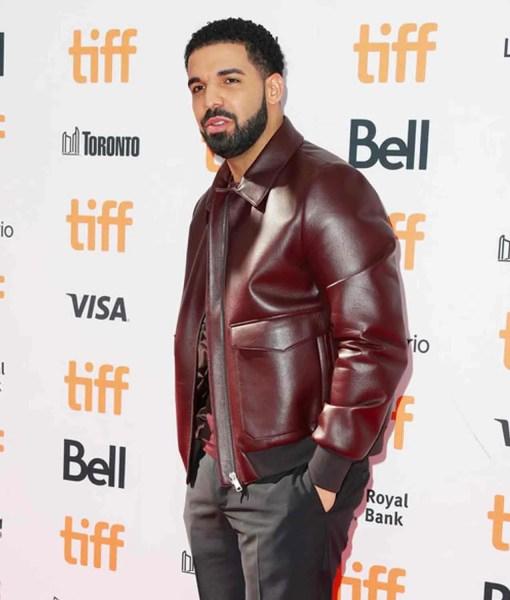 drake-bomber-leather-jacket