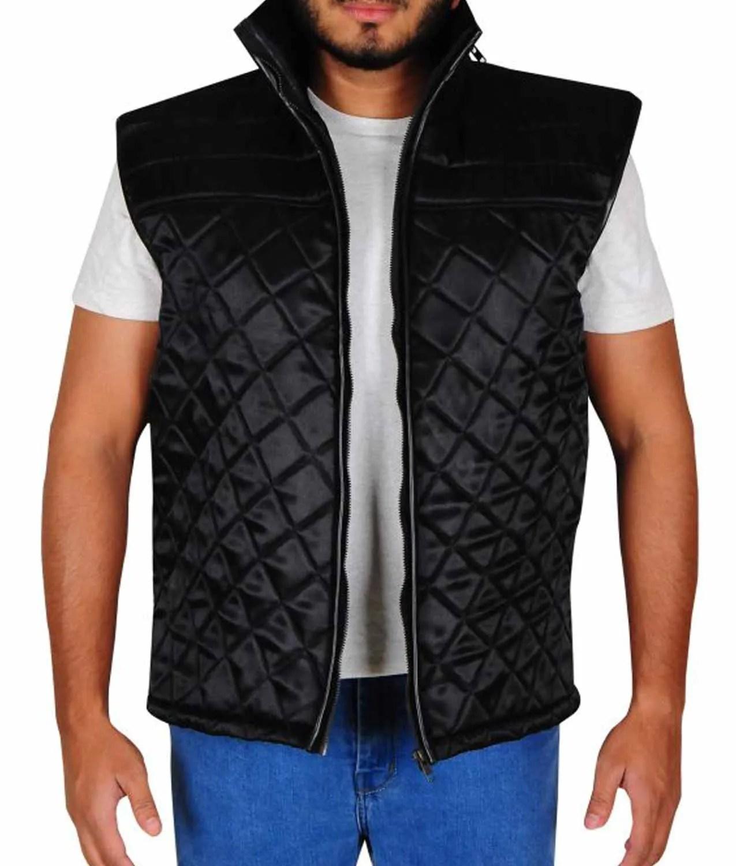 WWE Quilted Satin John Cena Vest - Jackets Creator