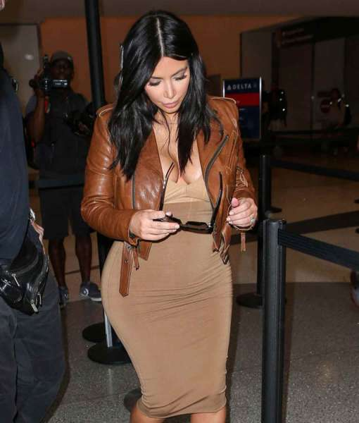 kim-kardashian-cropped-brown-leather-jacket