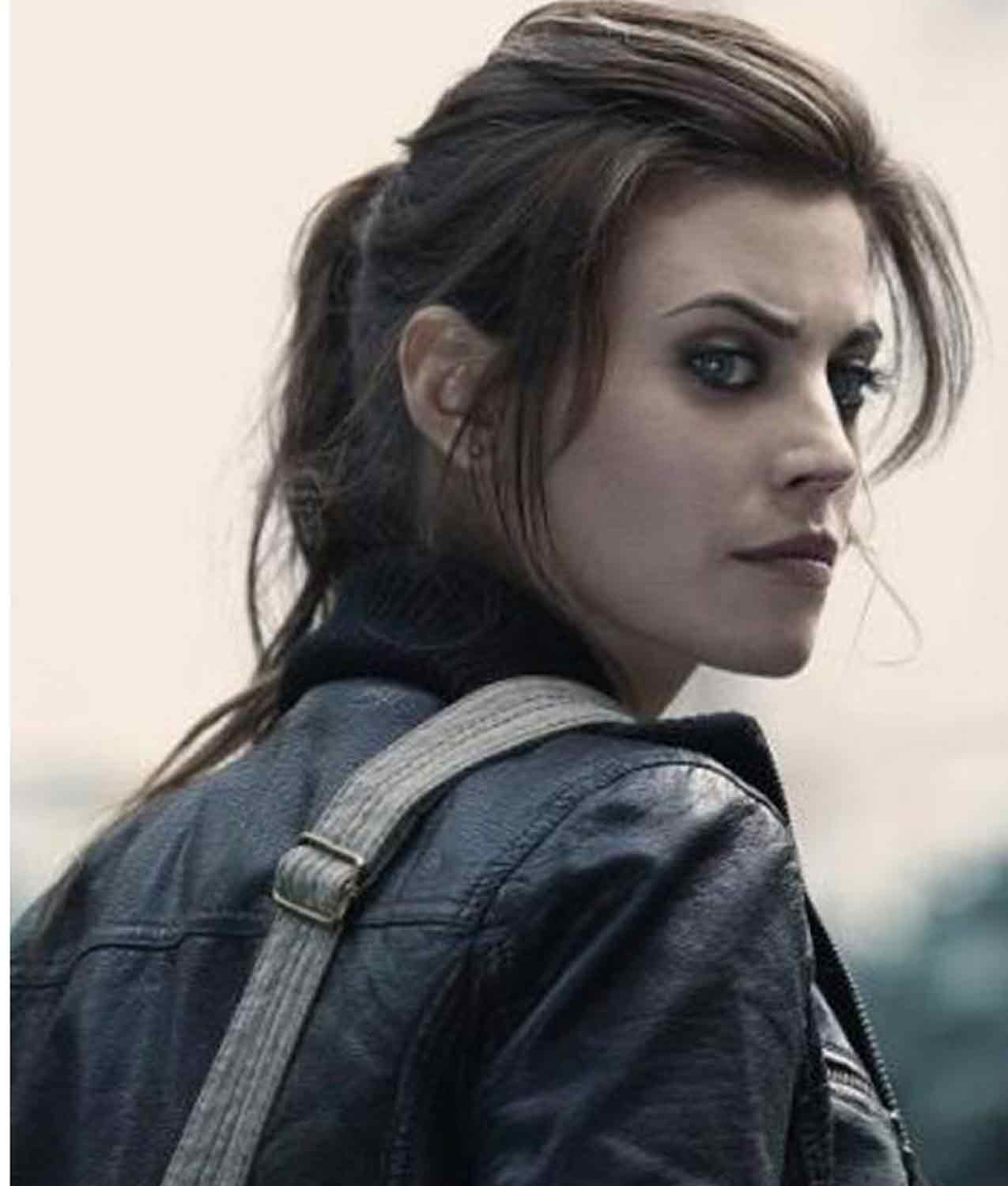 Meghan Ory Dead Rising Watchtower Crystal Leather Jacket