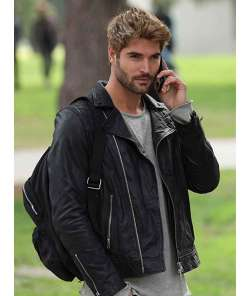 the-matchmakers-playbook-nick-bateman-black-leather-jacket