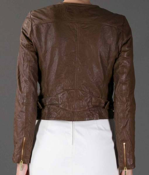 catherine-chandler-cropped-brown-leather-jacket