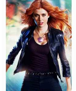 clary-fray-blue-leather-jacket